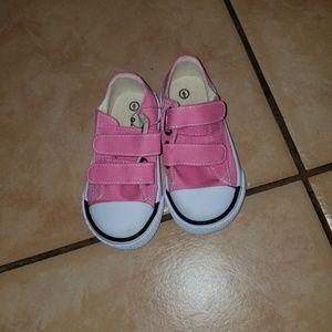 New Cute Pink Velcro Sneakers